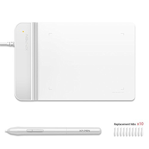 XP-Pen drawing tablet 4*3 inches drawing tablet 2 mm thickness 8192 Level Pressure Illustration Introductory OSU! Game White StarG430S W
