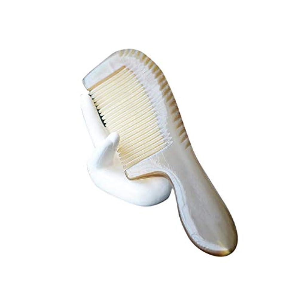 追い払う代わりにを立てる増加するナチュラルバッファローホーン櫛帯電防止ファイン歯の櫛(ノースタティック、ノーもつれ) ヘアケア (色 : Photo color)