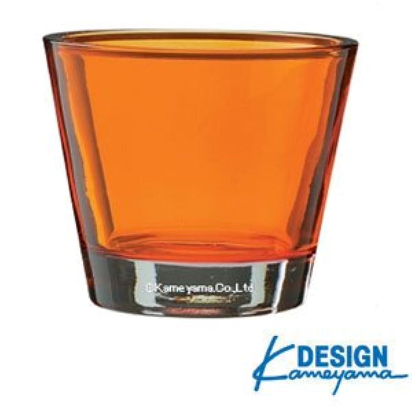 公発音水を飲むカメヤマキャンドル カラリス オレンジ