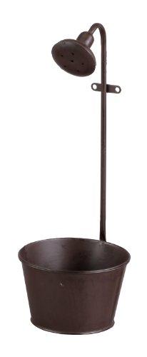RoomClip商品情報 - アビテ 【アンティーク調仕上げのブリキのプランター】 シャワー ポット ブラウン XX-002-BR