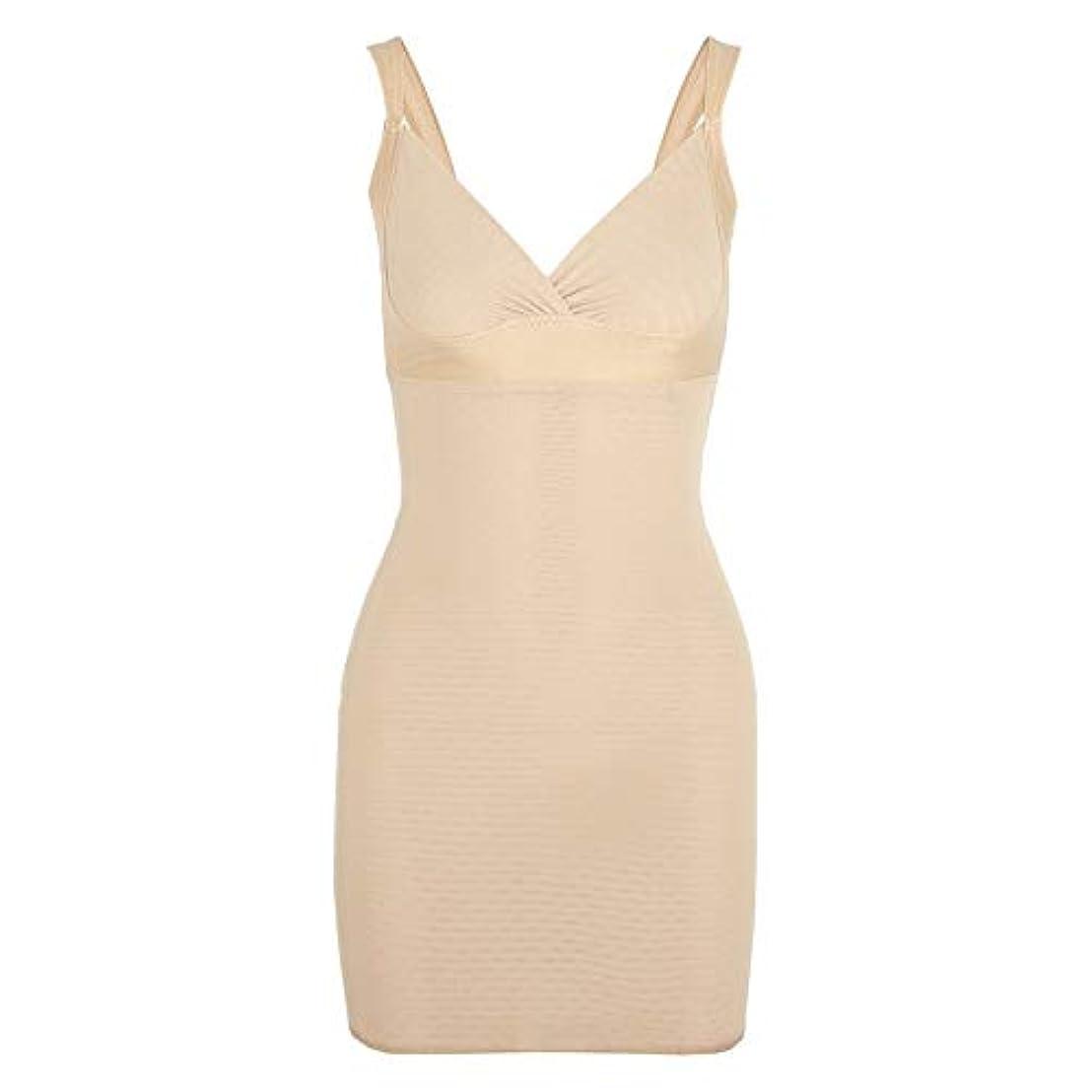 保持病的非難する女性のポスト産後Post身下着シェイパードレスを回復ボディスーツシェイプウェアウエストコルセットガードル-アプリコット-XL