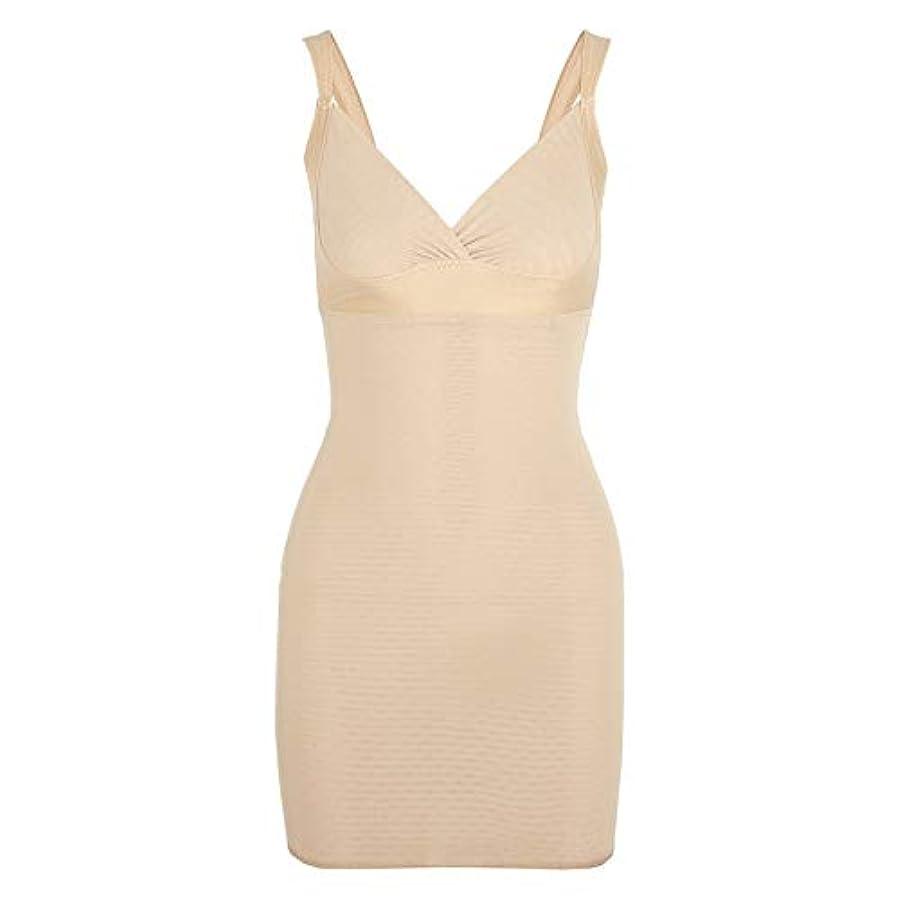 葉巻胸参照する女性のポスト産後Post身下着シェイパードレスを回復ボディスーツシェイプウェアウエストコルセットガードル-アプリコット-XL