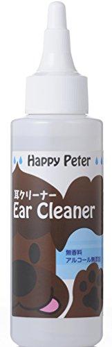 ハッピーピーター イヤークリーナー 耳の洗浄液 無香料 無着色 アルコールフリー 100mL