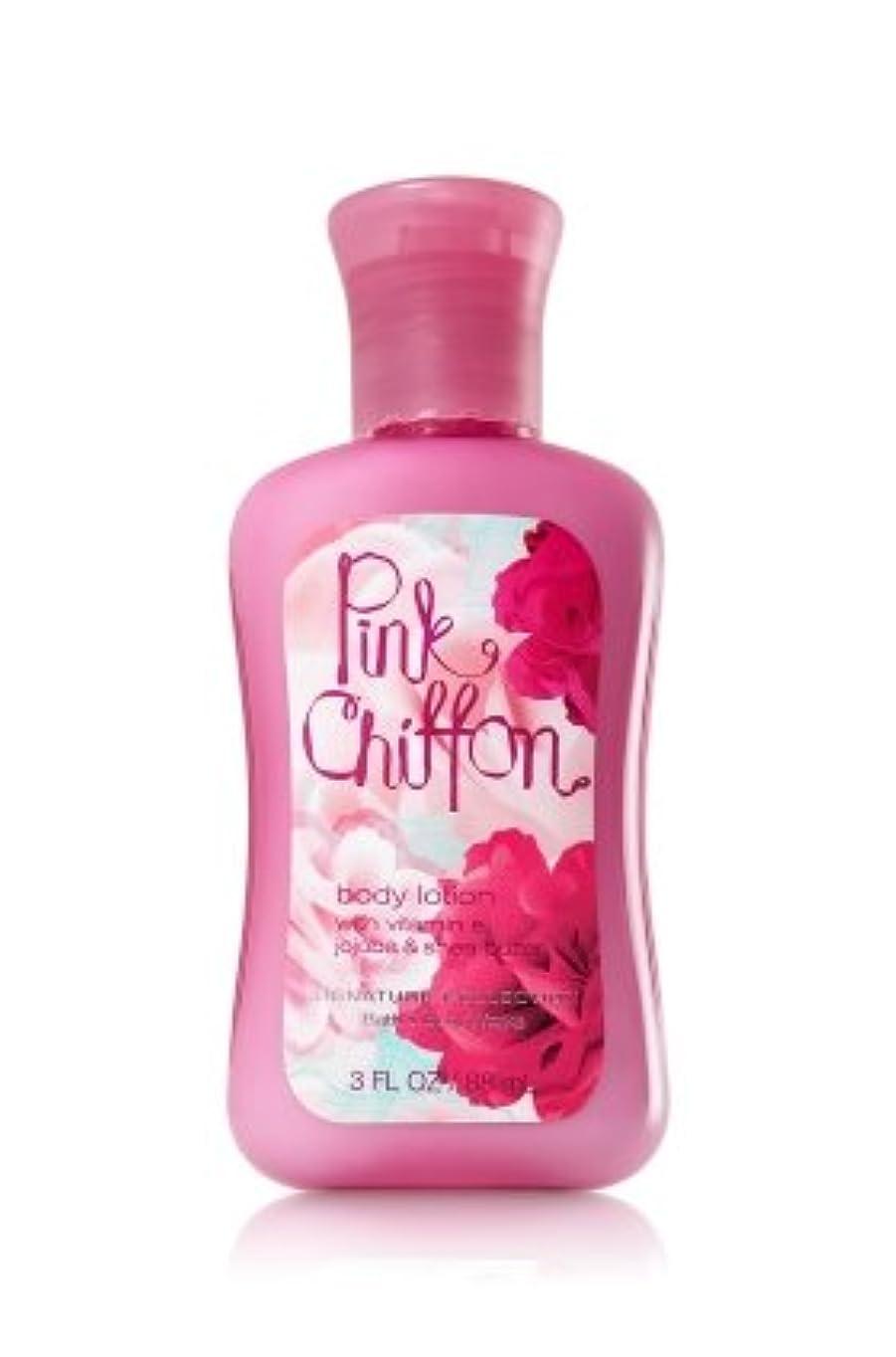 不誠実リサイクルするコンテンポラリーバス&ボディワークス ピンクシフォン トラベルサイズ ボディローション Pink Chiffon Travel-Size Body Lotion