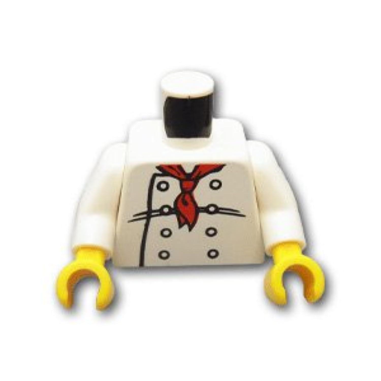レゴブロックパーツ トルソー - シェフ:[White / ホワイト]【並行輸入品】