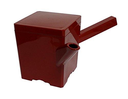 若泉漆器 割烹漆器湯筒 (大)角 朱 (620cc) 1-556-12