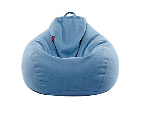 ビーズクッション 座布団 体が吸い付いてリラクスできる どんな座り方でもくつろぐ (ブルー, 90*110cm)