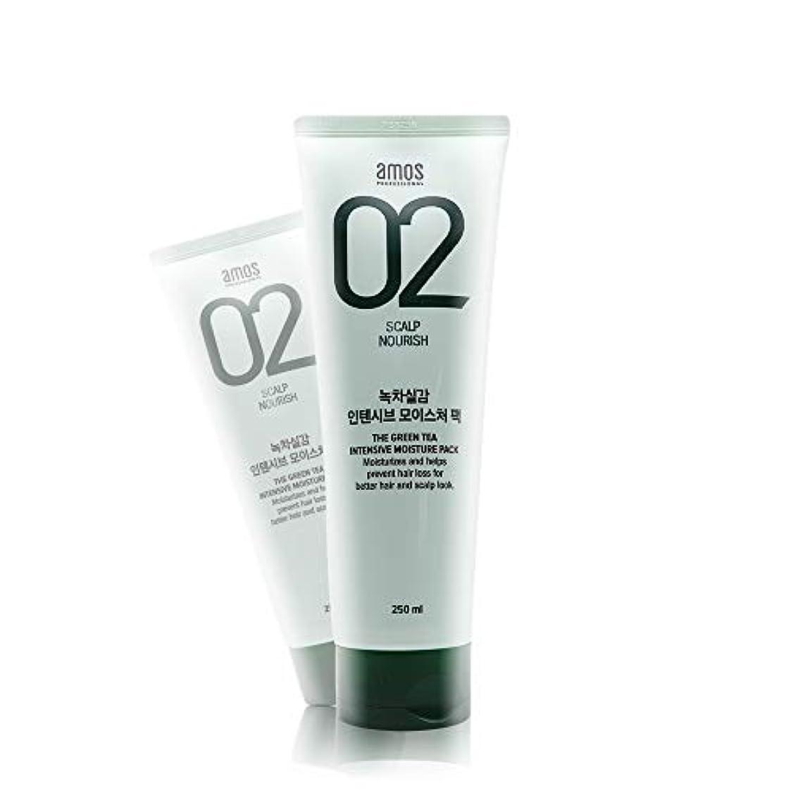 ピア毒液投げ捨てるアモス AMOS 緑茶実感インテンシブモイスチャーパック 250g, Feel the Green Tea Intensive Moisture Hair Pack