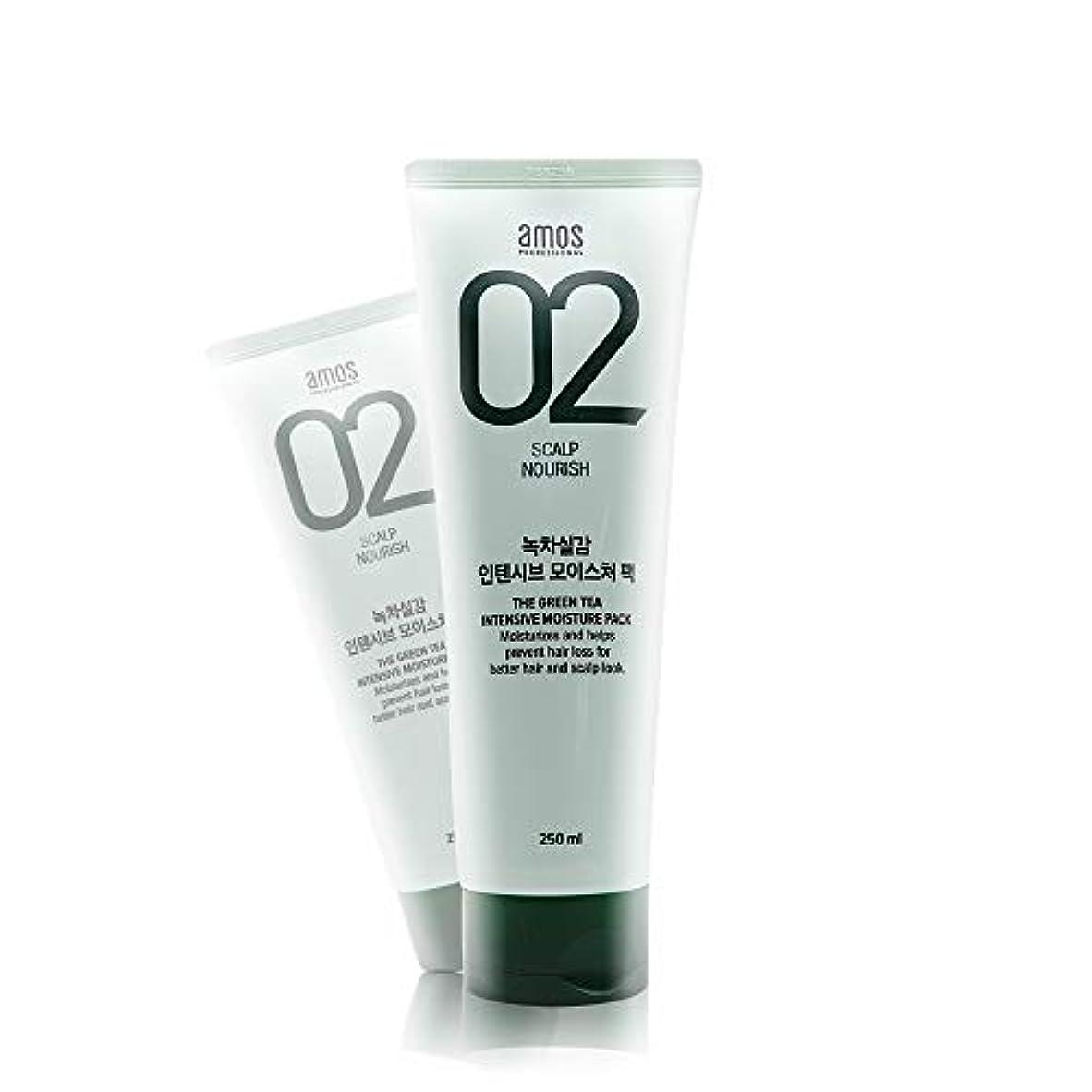 推進力ヤギ有益なアモス AMOS 緑茶実感インテンシブモイスチャーパック 250g, Feel the Green Tea Intensive Moisture Hair Pack