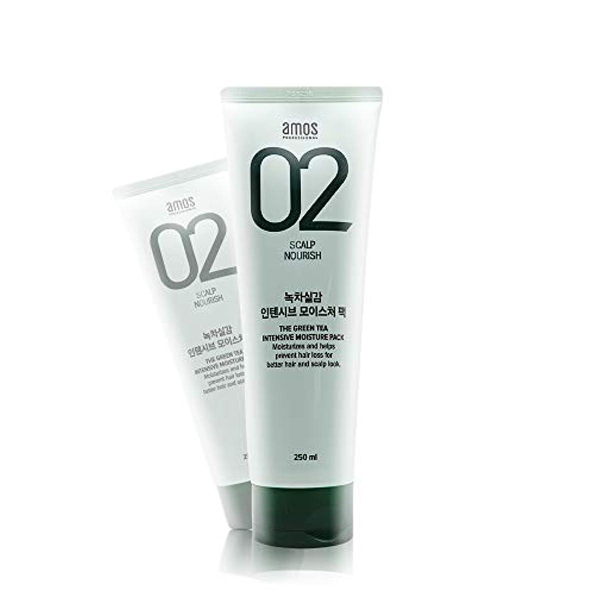 仮定リズミカルな高音アモス AMOS 緑茶実感インテンシブモイスチャーパック 250g, Feel the Green Tea Intensive Moisture Hair Pack