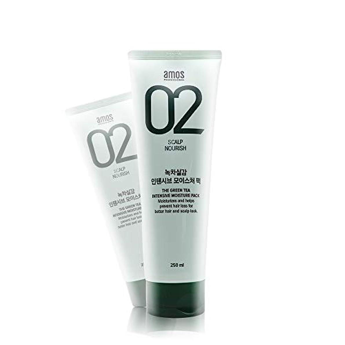 ピクニックウェーハ図アモス AMOS 緑茶実感インテンシブモイスチャーパック 250g, Feel the Green Tea Intensive Moisture Hair Pack