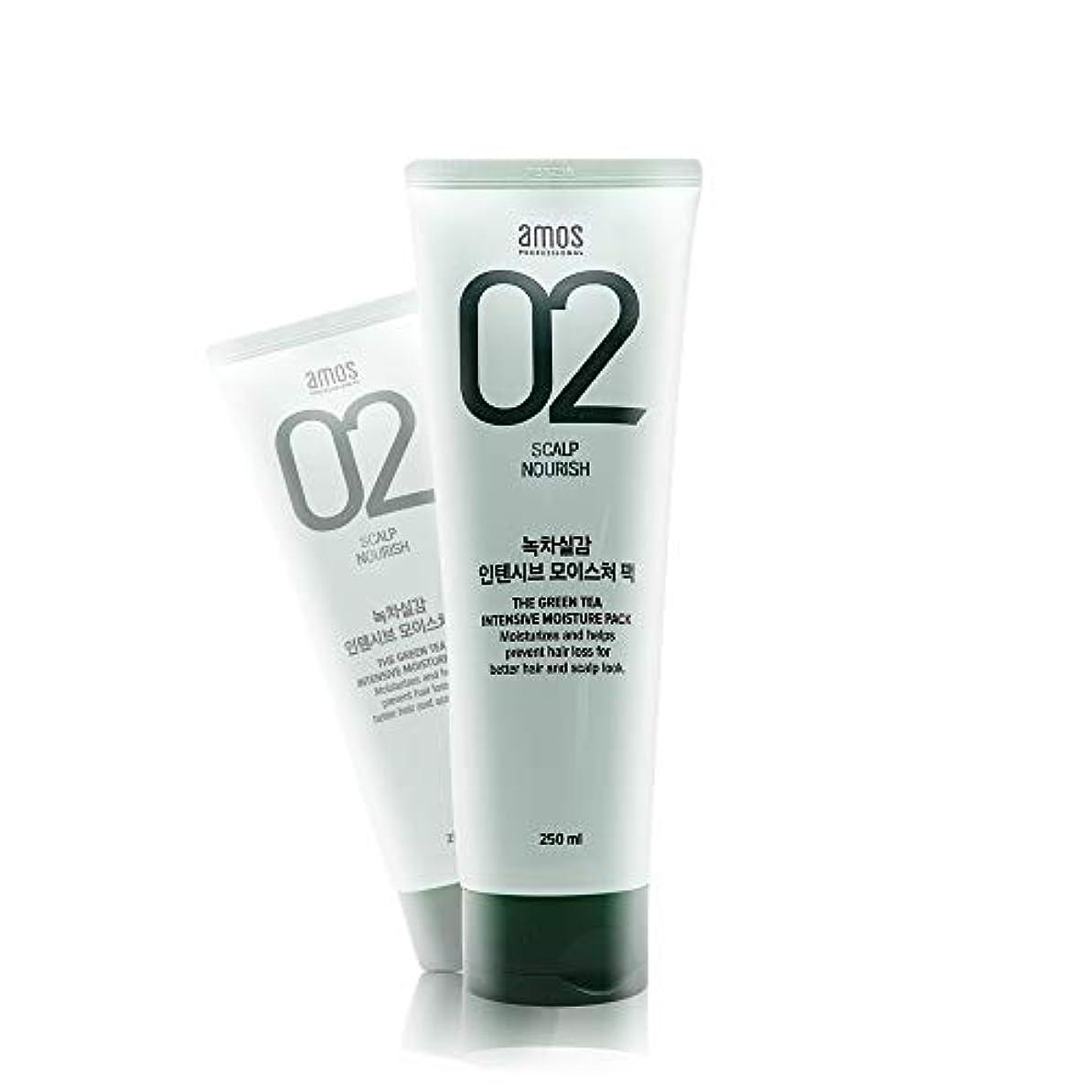 旅行バーターほぼアモス AMOS 緑茶実感インテンシブモイスチャーパック 250g, Feel the Green Tea Intensive Moisture Hair Pack