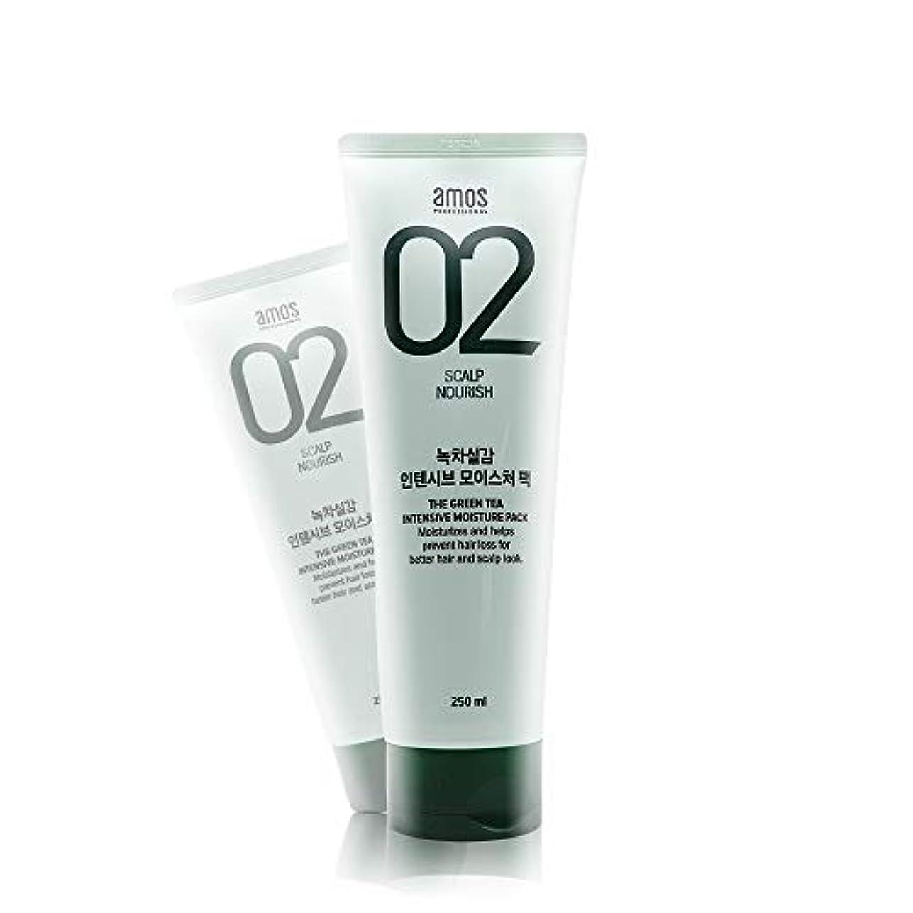 師匠死割り当てますアモス AMOS 緑茶実感インテンシブモイスチャーパック 250g, Feel the Green Tea Intensive Moisture Hair Pack
