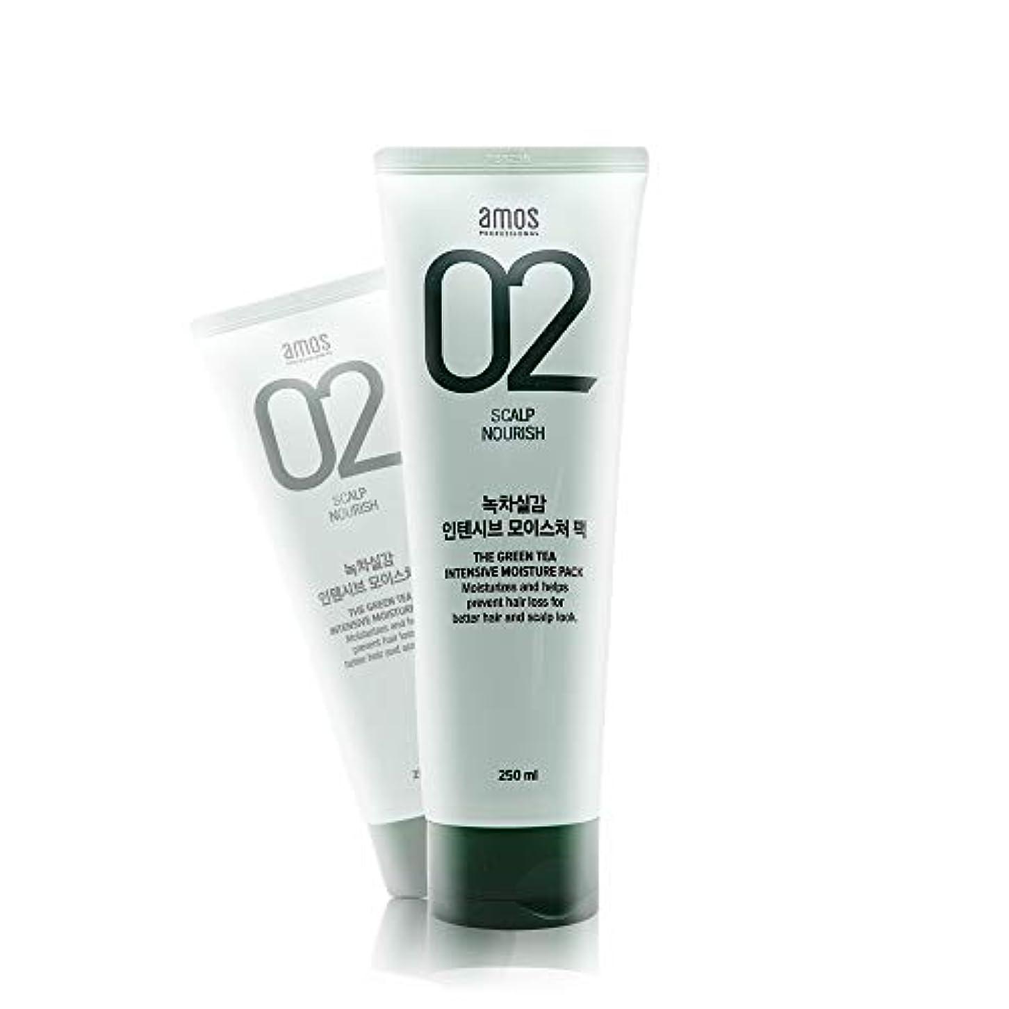 ページェントカウボーイゆるくアモス AMOS 緑茶実感インテンシブモイスチャーパック 250g, Feel the Green Tea Intensive Moisture Hair Pack