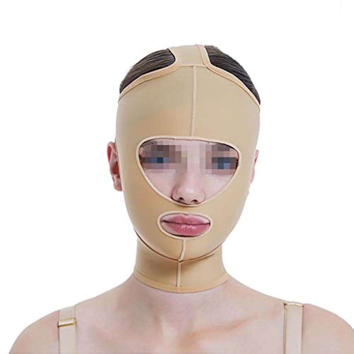 未使用ホイール地域のフェイスリフトマスク、ラインカービングフェイス弾性セットシンダブルチンVフェイスビームフェイスマルチサイズオプション (Size : M)