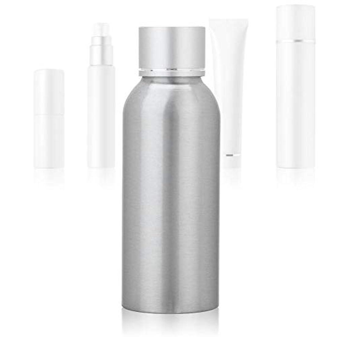 予約カラス道徳100 MLアジア銀陽極酸化アルミニウム 空の化粧品ボトル ポータブルDIY スキンケア 製品トナーコンテナーボトル