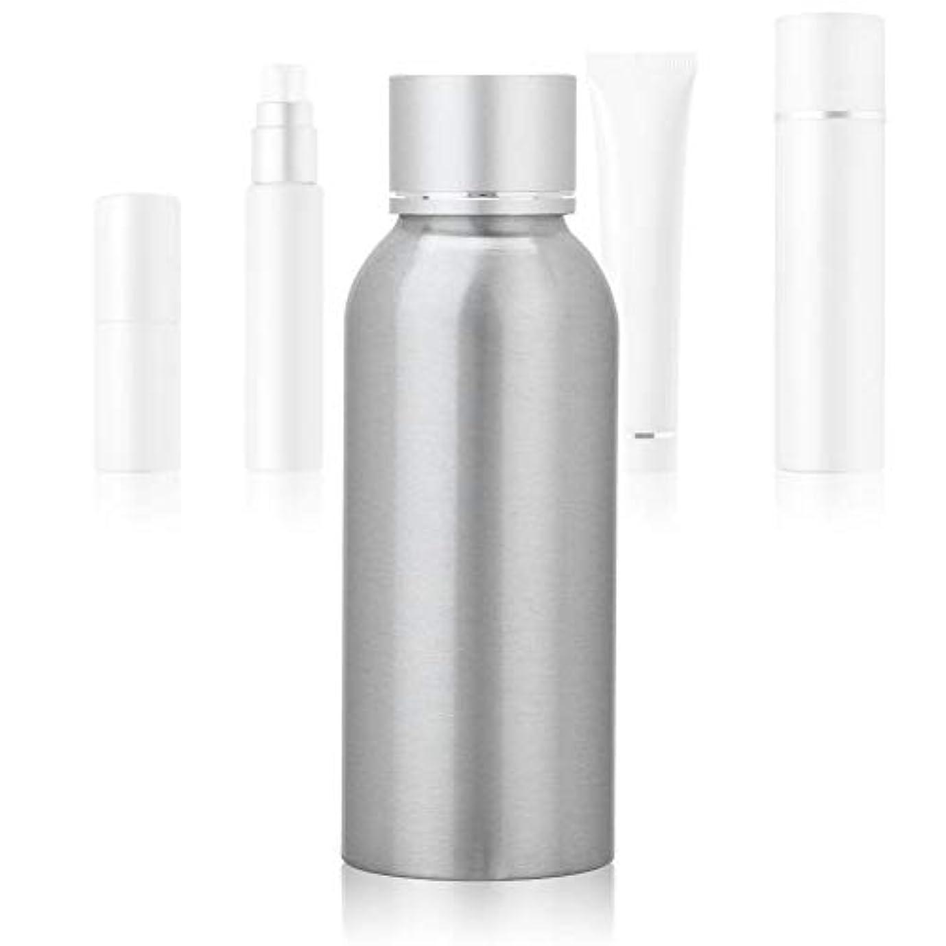 謙虚五十ジャンクション100 MLアジア銀陽極酸化アルミニウム 空の化粧品ボトル ポータブルDIY スキンケア 製品トナーコンテナーボトル