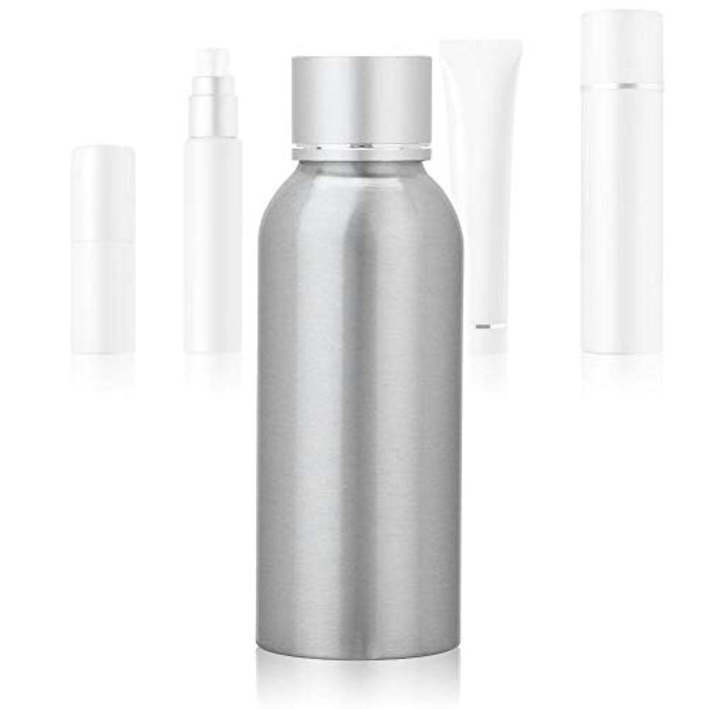 委任する文明化する不機嫌そうな100 MLアジア銀陽極酸化アルミニウム 空の化粧品ボトル ポータブルDIY スキンケア 製品トナーコンテナーボトル
