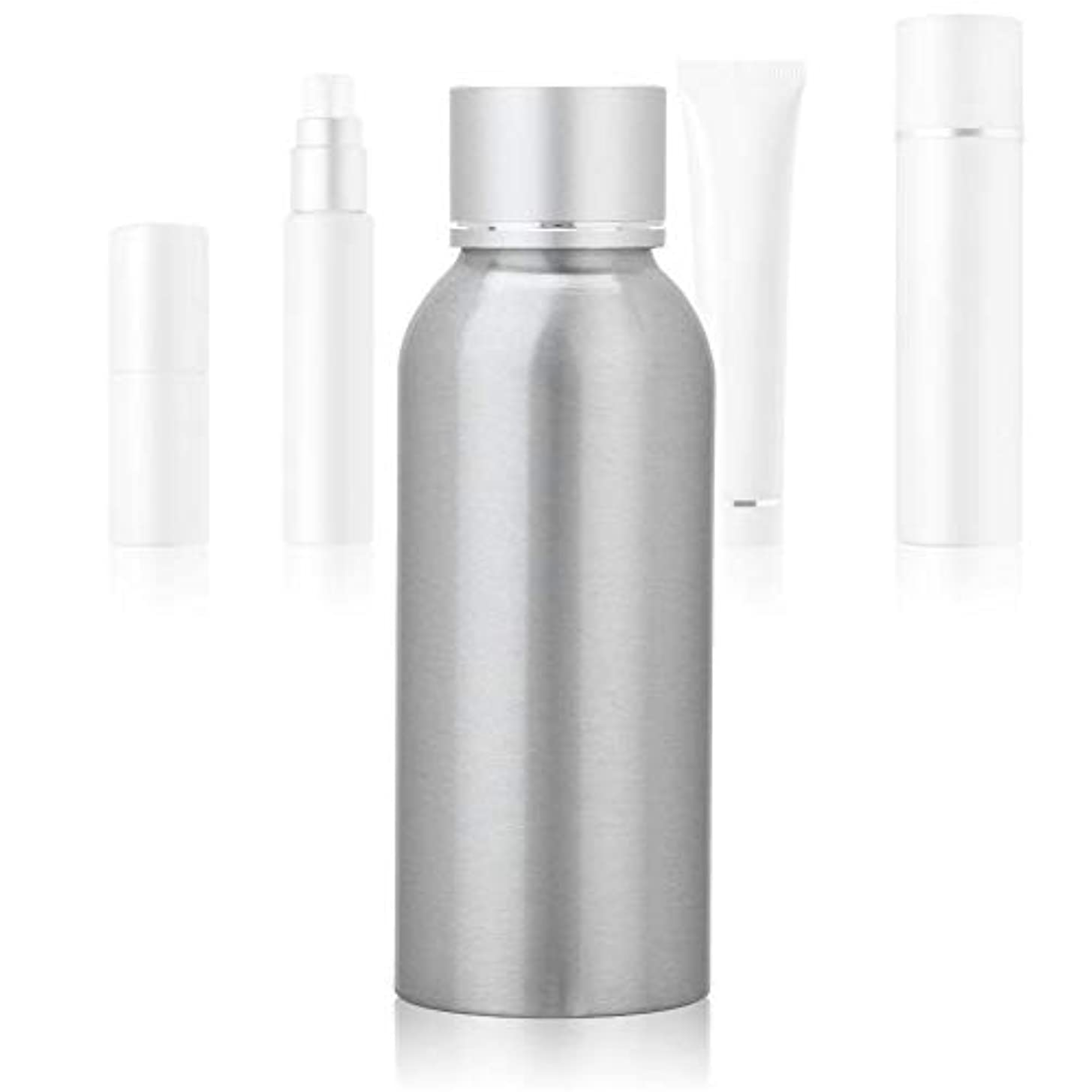 習字ペルソナマイク100 MLアジア銀陽極酸化アルミニウム 空の化粧品ボトル ポータブルDIY スキンケア 製品トナーコンテナーボトル