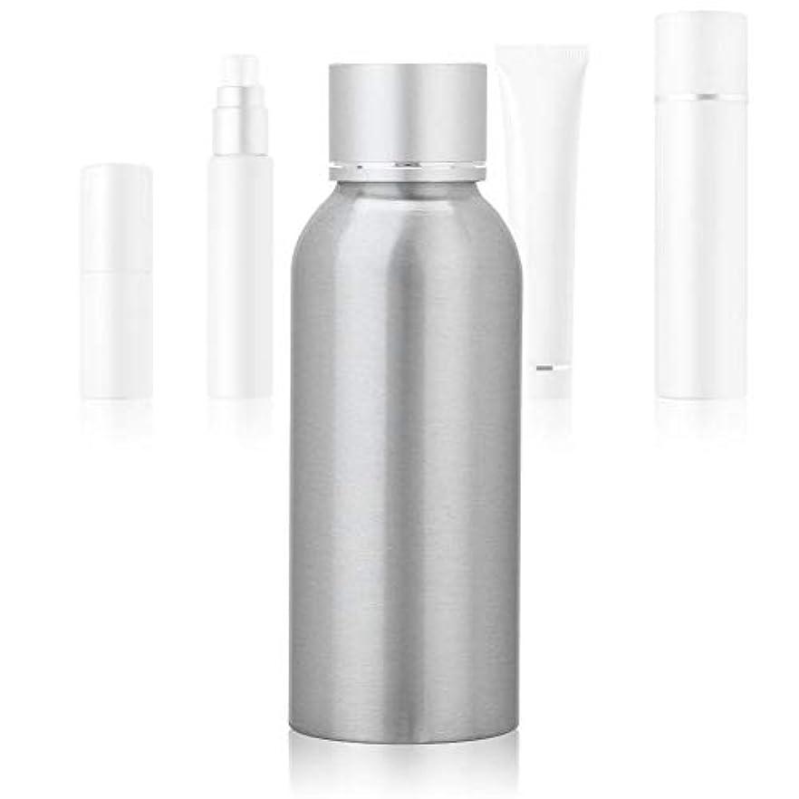 会社農場メンダシティ100 MLアジア銀陽極酸化アルミニウム 空の化粧品ボトル ポータブルDIY スキンケア 製品トナーコンテナーボトル