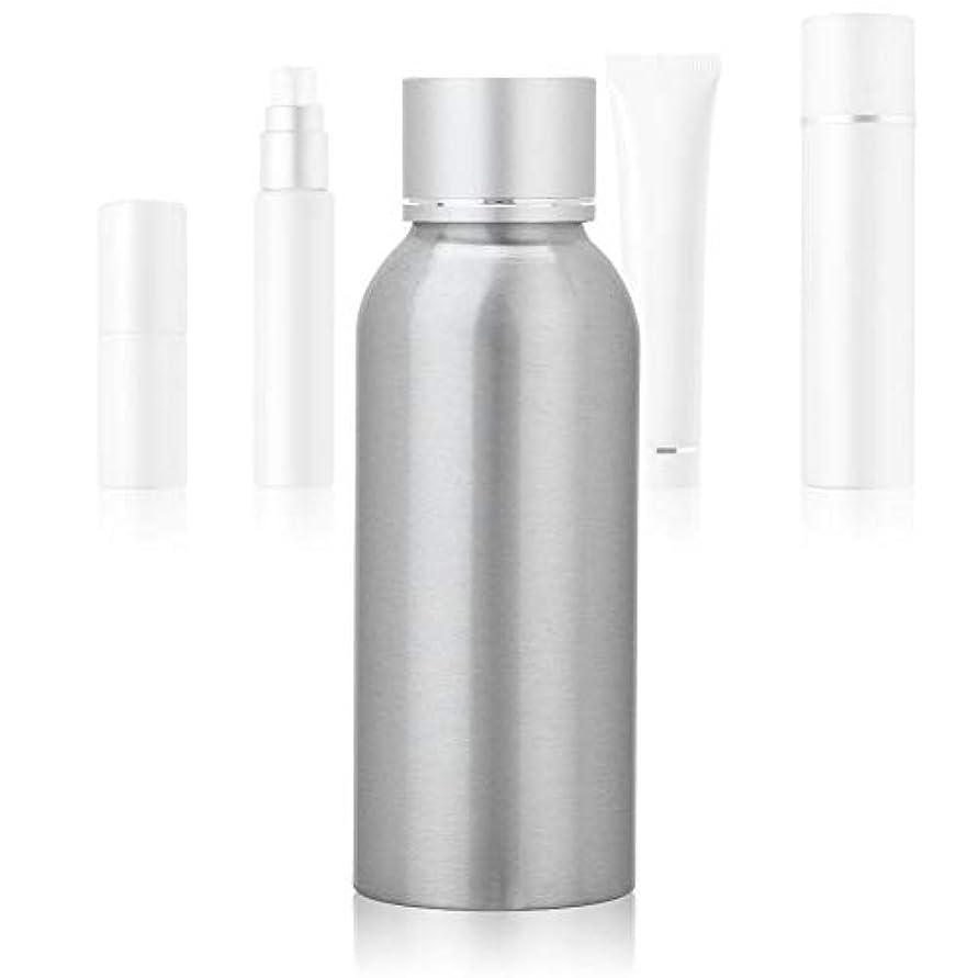 政令アナロジースペル100 MLアジア銀陽極酸化アルミニウム 空の化粧品ボトル ポータブルDIY スキンケア 製品トナーコンテナーボトル