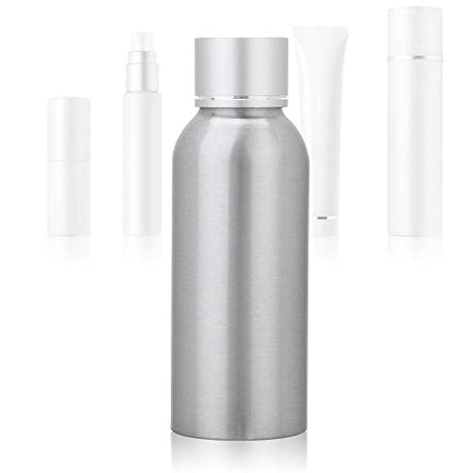 寓話ドリンク家禽100 MLアジア銀陽極酸化アルミニウム 空の化粧品ボトル ポータブルDIY スキンケア 製品トナーコンテナーボトル