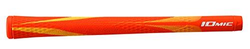 IOMIC(イオミック) ゴルフグリップ X-Grip Opus1 バックライン有 オレンジ Art Grip Series ベース:オレンジ×イエロー エンド:オレンジ M60