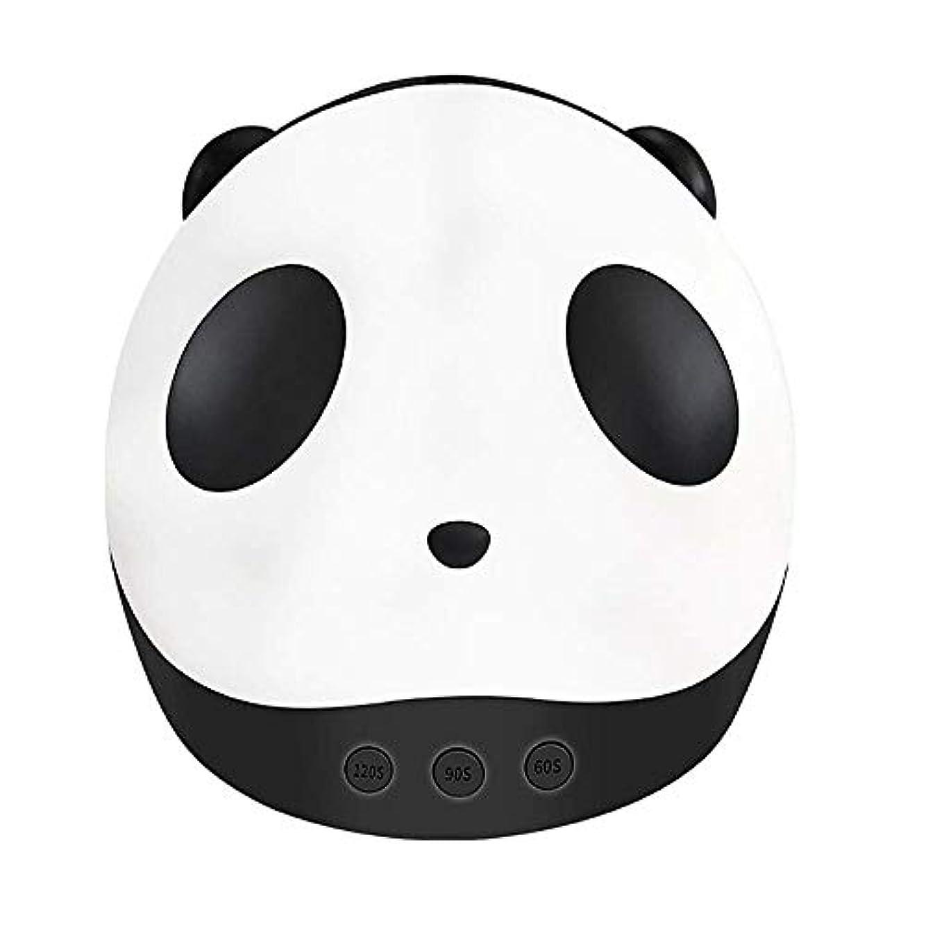 ご意見キャンディー堀パンダネイルドライヤーミニUV光線療法Led光線療法ライト36ワットスマートネイル光線療法機ネイルライト付き3タイマー設定機能、黒 (Color : Black)