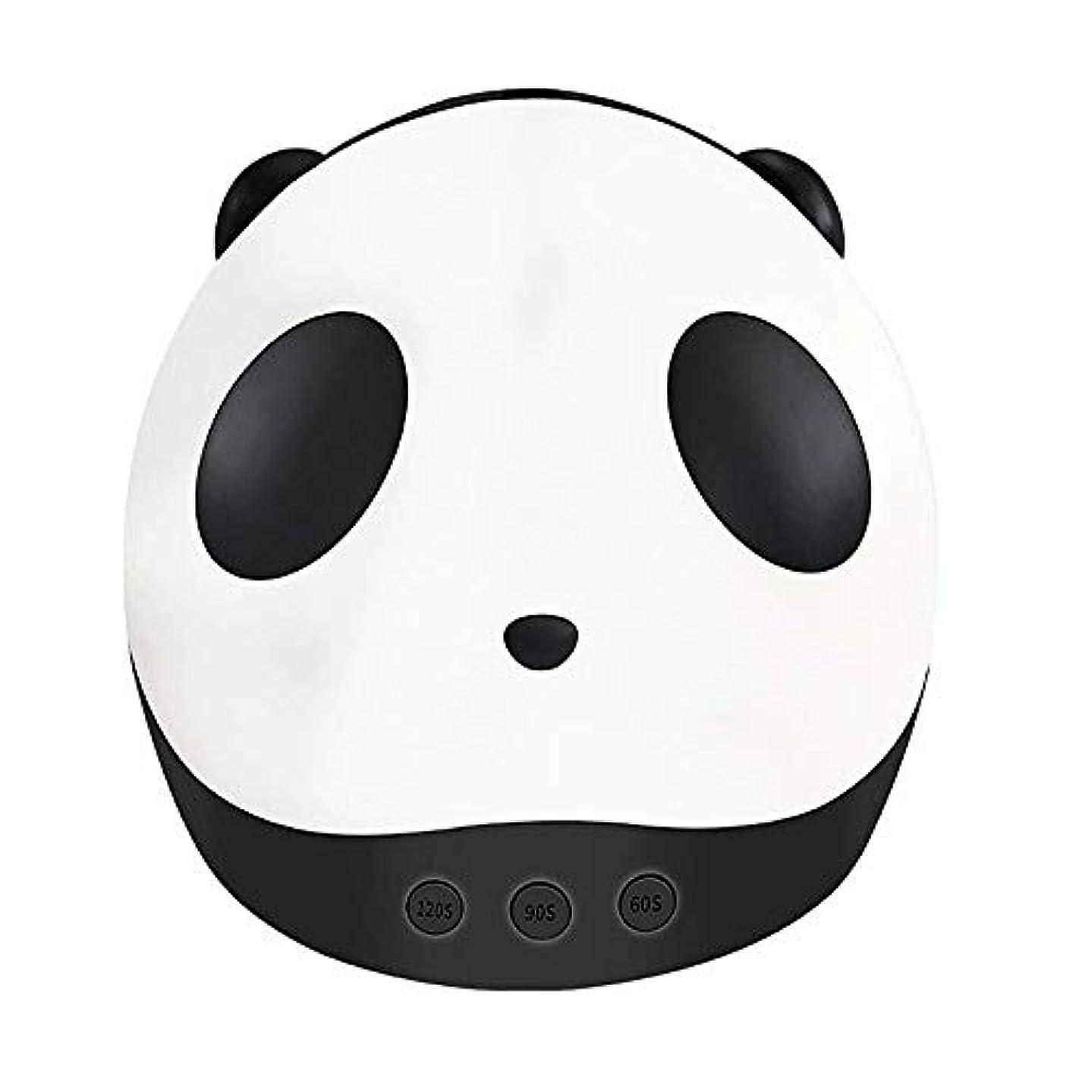根絶する時代遅れカーテンパンダネイルドライヤーミニUV光線療法Led光線療法ライト36ワットスマートネイル光線療法機ネイルライト付き3タイマー設定機能、黒 (Color : Black)