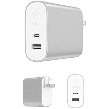 【Amazon.co.jp 限定】ベルキン USB充電器 iPhone / iPad / Androidスマホ各種対応 USB-C 27W / USB-A 12W 急速充電 BOOST CHARGE F7U061DQ-SLV-A
