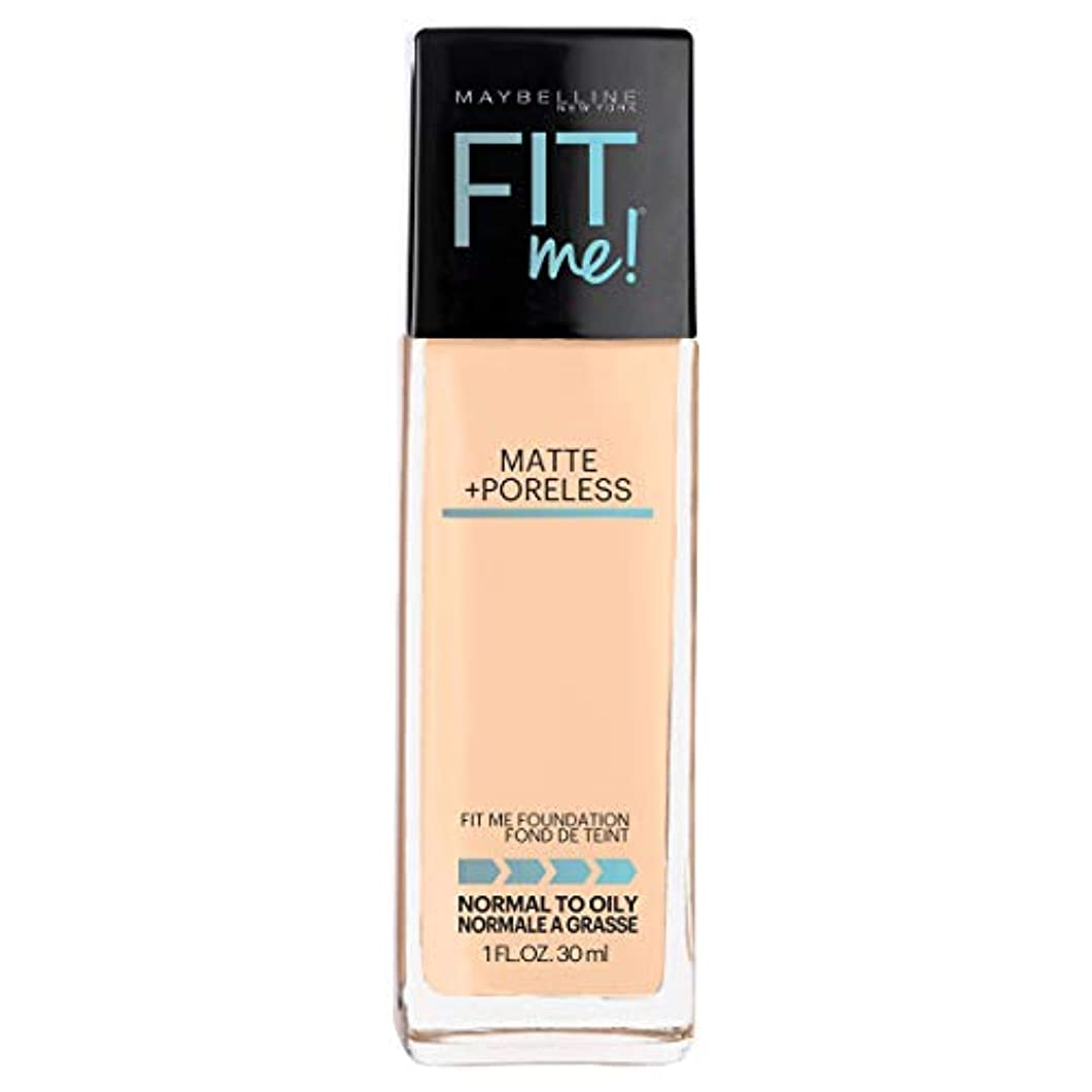 電卓露クランシーMAYBELLINE Fit Me! Matte + Poreless Foundation - Warm Nude 128 (並行輸入品)