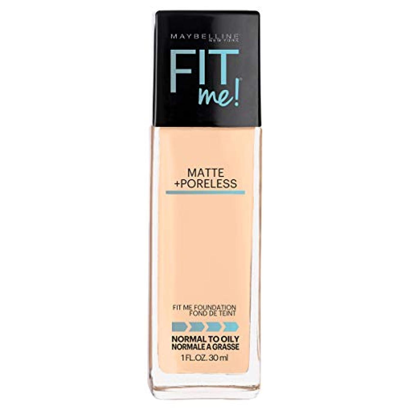 保持一方、悲しみMAYBELLINE Fit Me! Matte + Poreless Foundation - Warm Nude 128 (並行輸入品)