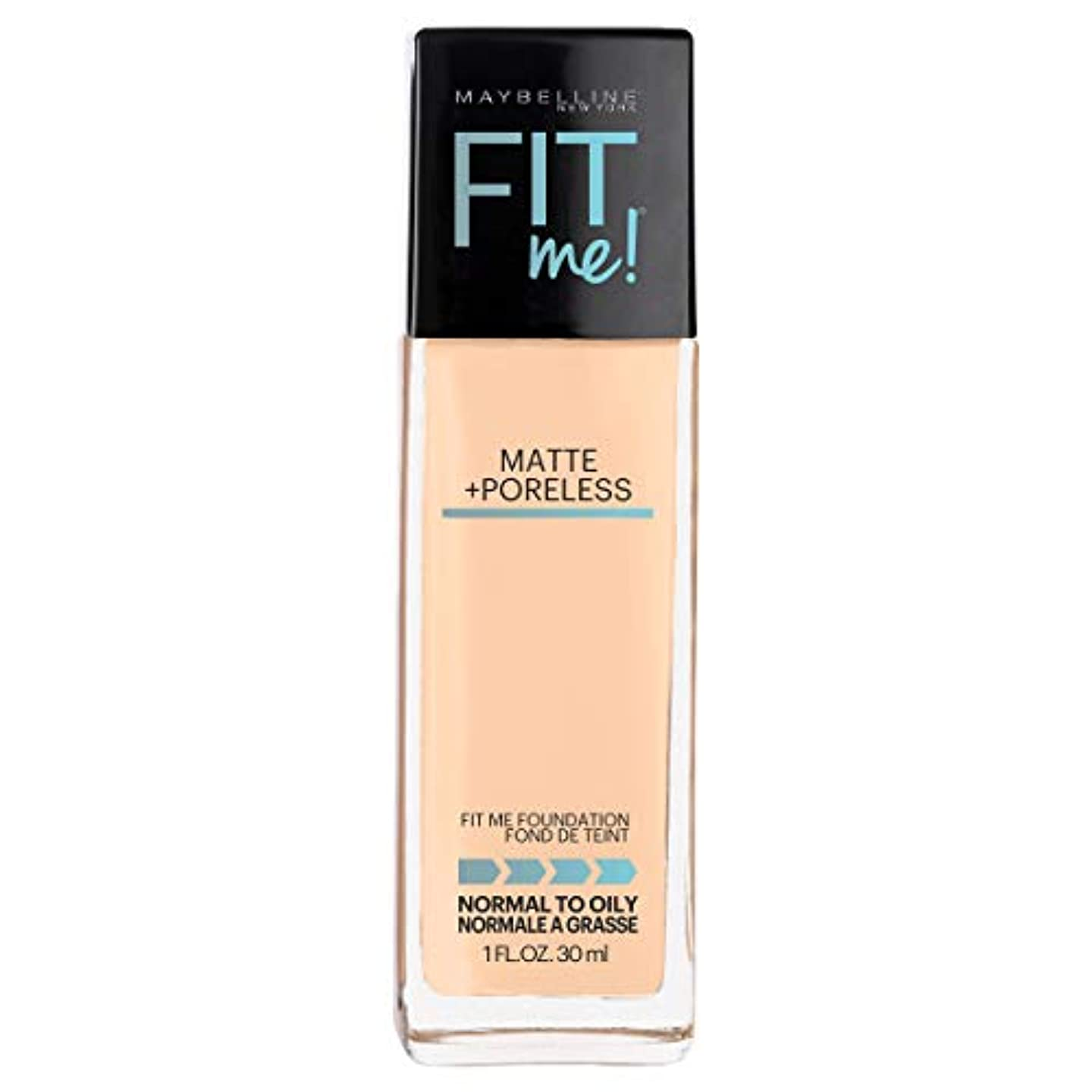 次ブラウズダイヤルMAYBELLINE Fit Me! Matte + Poreless Foundation - Warm Nude 128 (並行輸入品)
