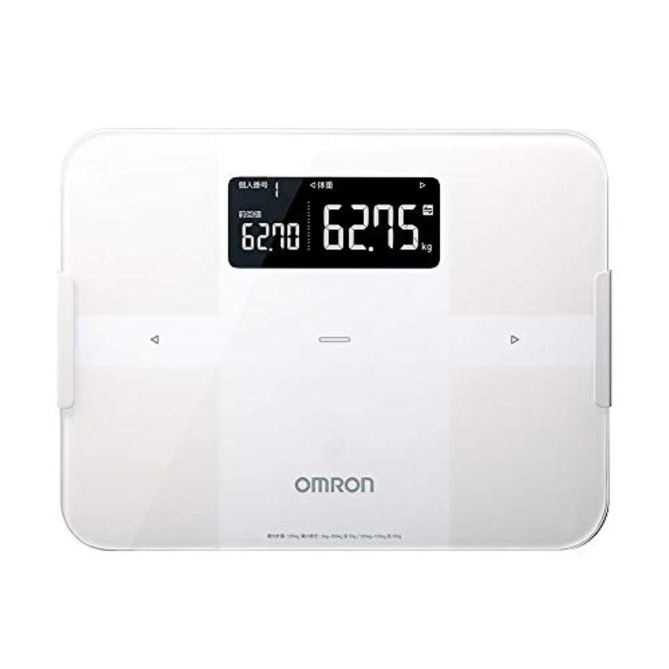 伝導率寄付パリティオムロン 体重?体組成計 カラダスキャン スマホアプリ/OMRON connect対応 ホワイト HBF-256T-W