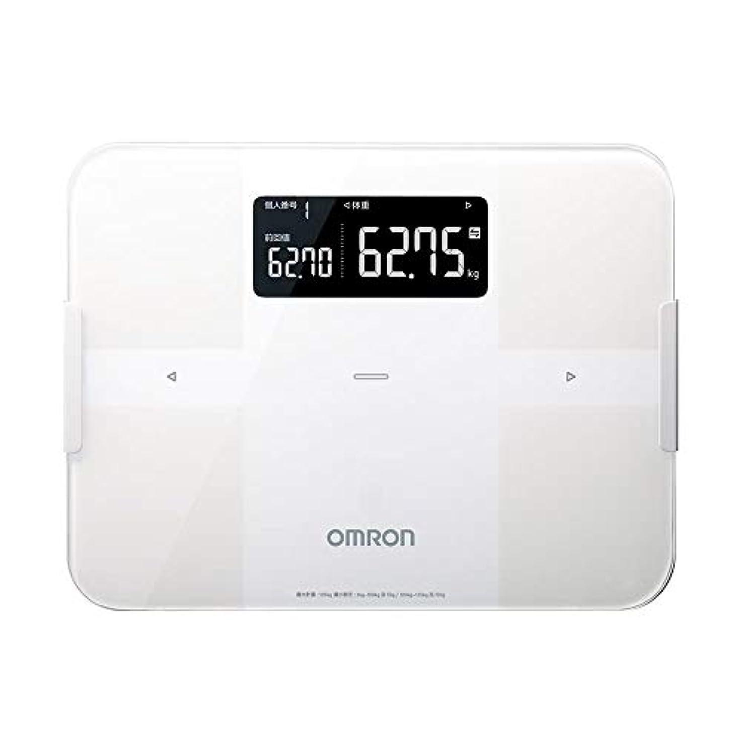 挨拶する鋭く宙返りオムロン 体重?体組成計 カラダスキャン スマホアプリ/OMRON connect対応 ホワイト HBF-256T-W