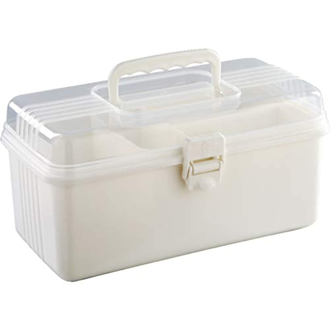 散る創傷軸多機能家庭用家庭用薬箱多層薬収納ボックス大型プラスチック子供用薬箱 LIUXIN (Color : White, Size : 28cm×15cm×13cm)