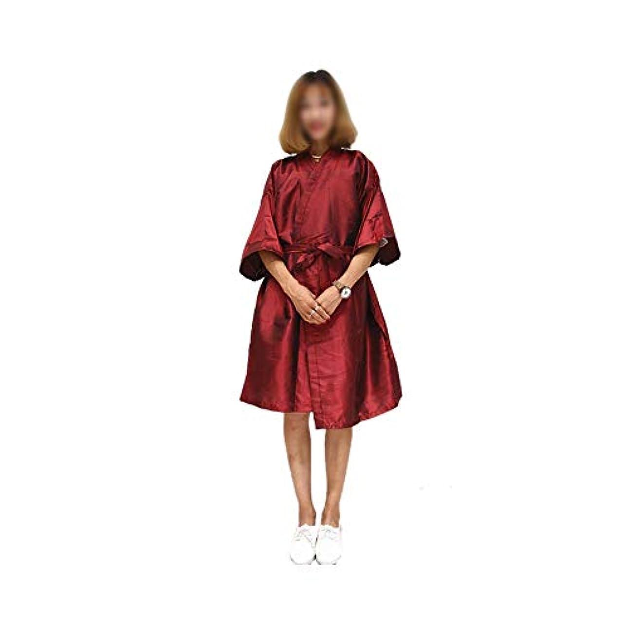 ロープピニオンソーシャル布の美の鉱泉の衣類の大広間の毛の切断のガウンの理髪店の岬 モデリングツール (色 : レッド)