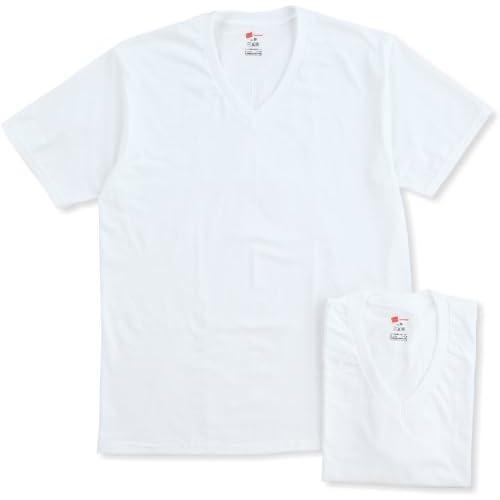 (ヘインズ)Hanes 【2枚組】VネックTシャツ HBJ1-004N-010 010 ホワイト M
