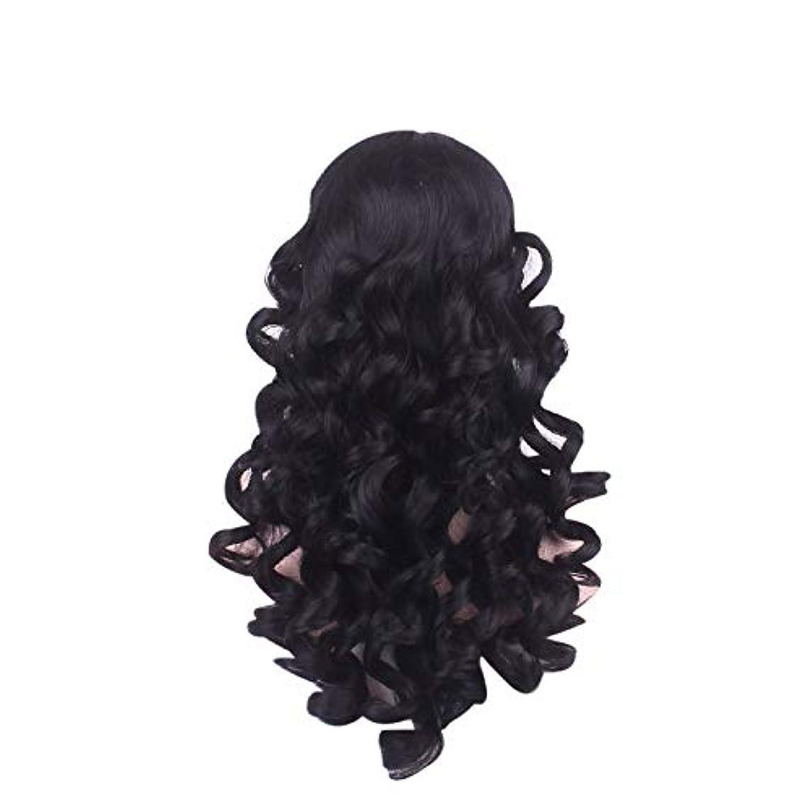 メダリスト湿気の多い有効な女性の長い巻き毛のファッションかつらローズネット65 cm