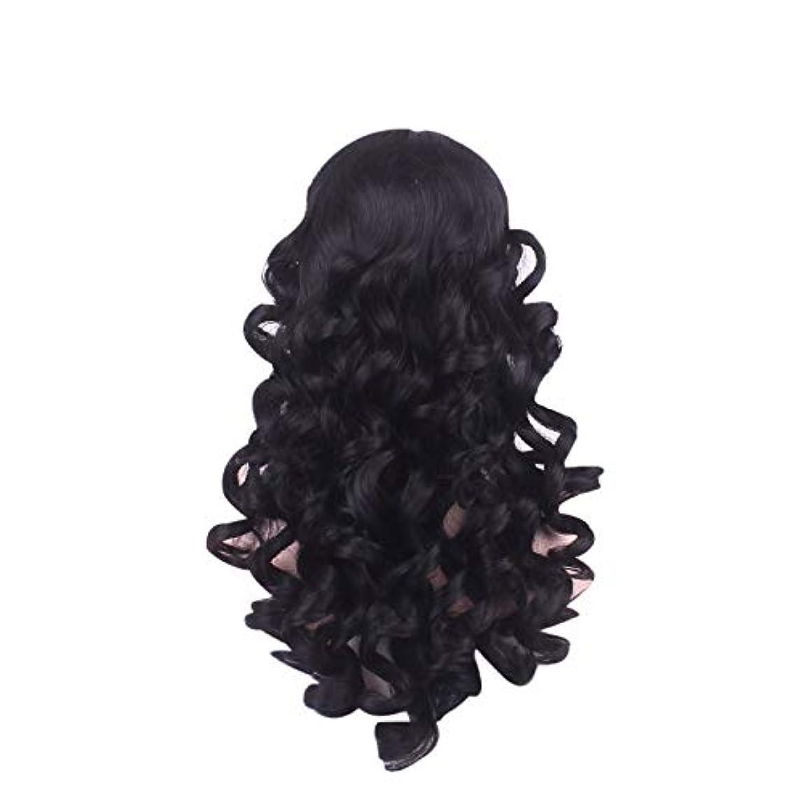 星付ける活性化女性の長い巻き毛のファッションかつらローズネット65 cm
