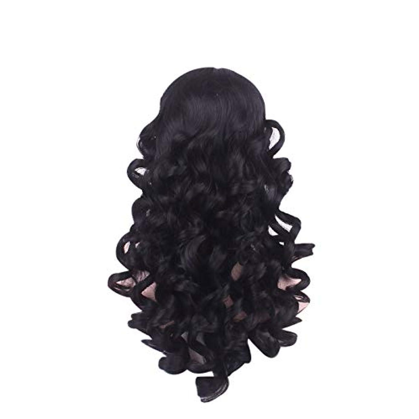 言い換えると甥比較女性の長い巻き毛のファッションかつらローズネット65 cm
