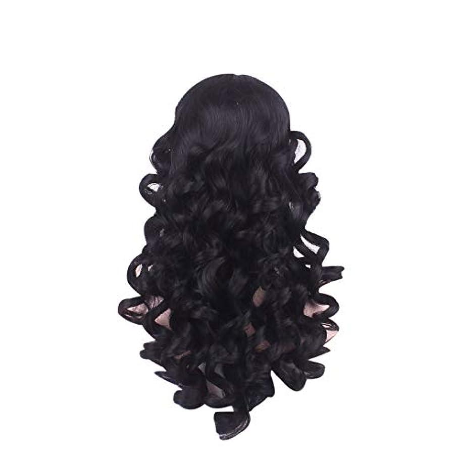 幼児スプレー交流する女性の長い巻き毛のファッションかつらローズネット65 cm