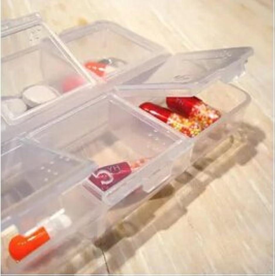 痛い見通し対話Lorny (TM) 【送料無料】6スロット透明なプラスチックピルボックス医学オーガナイザー多機能ピルケースポータブルストレージボックス [並行輸入品]