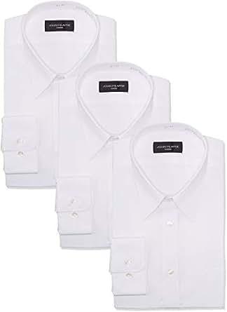 [コナカ] メンズワイシャツ 応援3枚セット ビジネスマン応援!メンズワイシャツ 白長袖、形態安定加工、15,876円相当 3枚、SP_YS-FBWH3-PR 白無地 日本 首回 39㎝ 袖丈 82㎝ (日本サイズM相当)