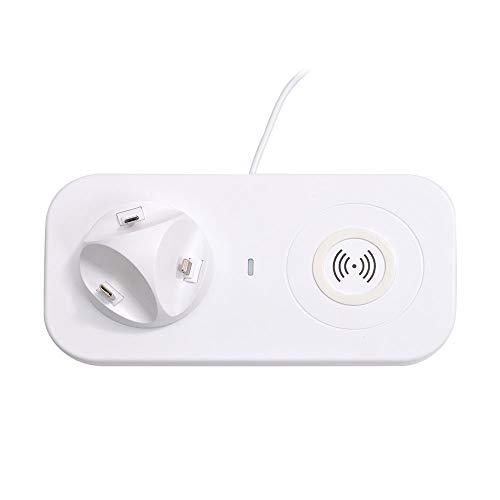 ワイヤレスも有線充電もできる「よくばりチャージャー」 SWBANCST オールインワン充電器【Qi/lightning/microUSB Type B/USB Type C対応】