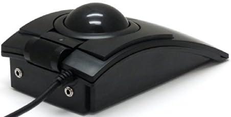 CST L-Trackレーザー式トラックボール USB 57mm径大玉ベアリングステンレスローラー支持 スクロールホイール付き 拡張スイッチポート2個付き プロフェッショナルモデル 【正規品 1年間保証】 ブラック CST2545-5W