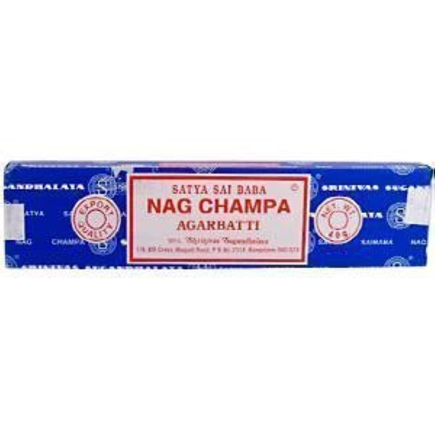 くそーオーバーヘッドるSatya Sai Baba Nag Champa Incense – 3パック、40グラム1パック