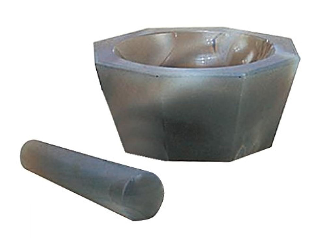 ペット口径貸し手城戸メノウ乳鉢製作所 メノー乳鉢 浅型 乳棒付き