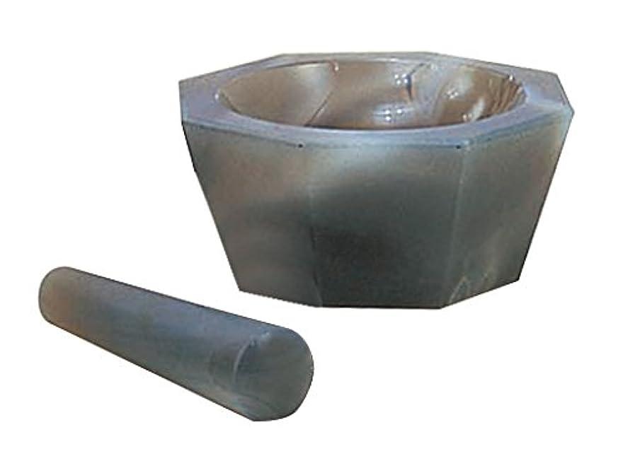 洗練された加入ウォーターフロント城戸メノウ乳鉢製作所 メノー乳鉢 浅型 乳棒付き