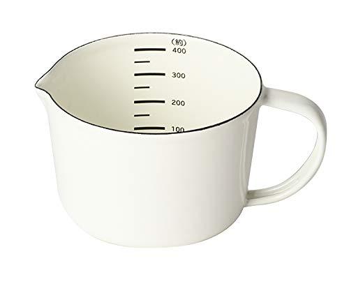 リバティーコーポレーション 計量カップ ホワイト 400ml Style ホーロー メジャーカップ LD-167